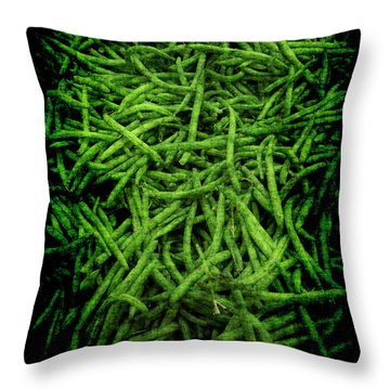 Renaissance Green Beans Throw Pillow
