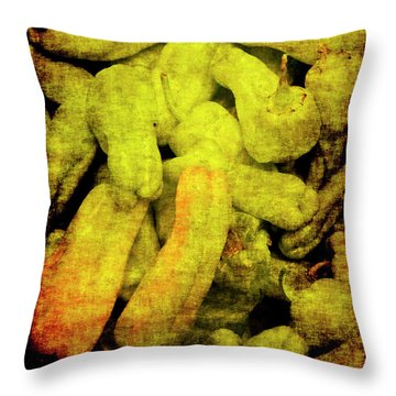 Renaissance Green Peppers Throw Pillow