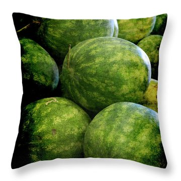 Renaissance Green Watermelon Throw Pillow