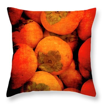Renaissance Persimmons Throw Pillow
