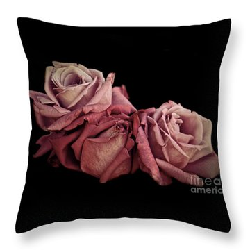 Renaissance Roses Throw Pillow