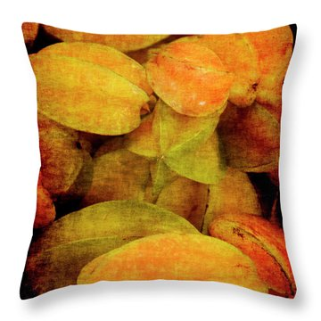 Renaissance Star Fruit Throw Pillow
