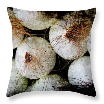 Renaissance White Onions Throw Pillow
