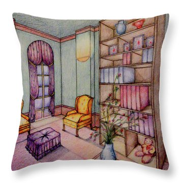 Rendering No.2 Throw Pillow by Hye Ja Billie