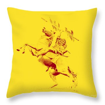 Renegade And Chief Osceola Throw Pillow by Paul  Wilford