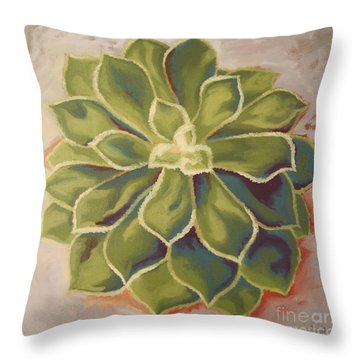 Throw Pillow featuring the painting Renewed by Erin Fickert-Rowland