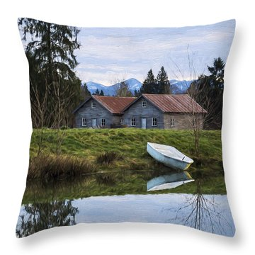 Renewed Hope - Hope Valley Art Throw Pillow by Jordan Blackstone
