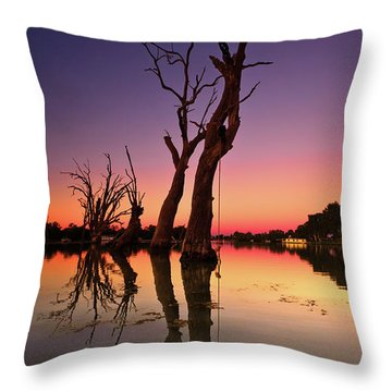 Renmark South Australia Sunset Throw Pillow by Bill Robinson