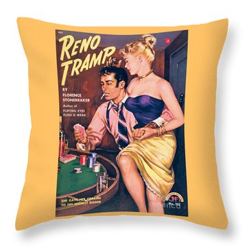 Reno Tramp Throw Pillow