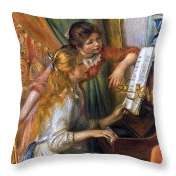 Renoir: Girls/piano, 1892 Throw Pillow by Granger