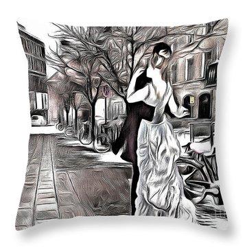 Renoir In Stokholm Collage Renoir Throw Pillow