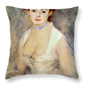 Renoir: Madame Henriot Throw Pillow by Granger