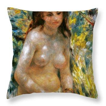 Renoir: Torso, C1876 Throw Pillow by Granger