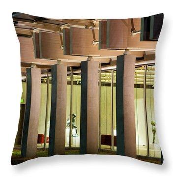 Renzo Piano Building Kimball Museum Throw Pillow