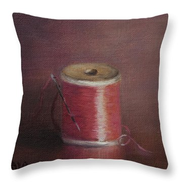 Repairs Iv Throw Pillow by Debbie Lamey-MacDonald