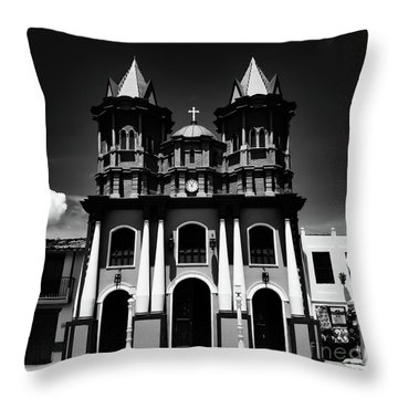 Replica Church In El Penol Throw Pillow