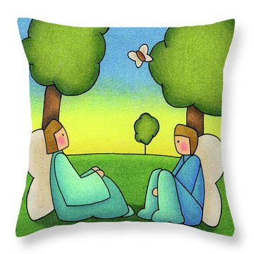 Repose Throw Pillow by Sarah Batalka