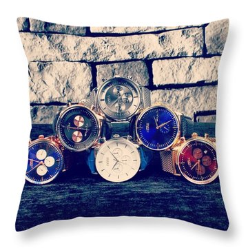 Watches Collection Throw Pillow by Andy Bucaille