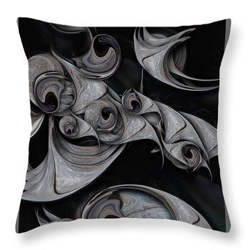 Throw Pillow featuring the digital art Repressed Reality by Carmen Fine Art