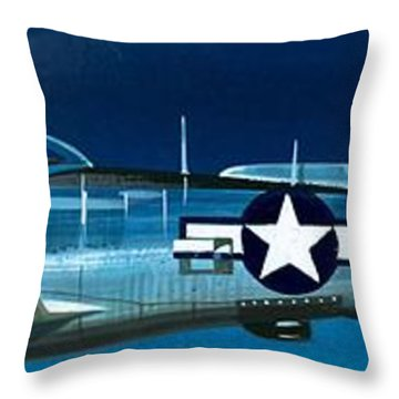 Republic P-47n Thunderbolt Throw Pillow