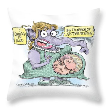 Republican Trump Abortion Throw Pillow