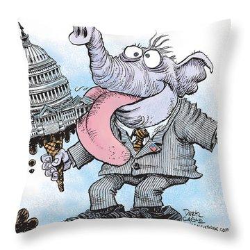Republicans Lick Congress Throw Pillow