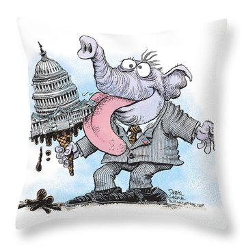 Republicans Lick Congress Throw Pillow