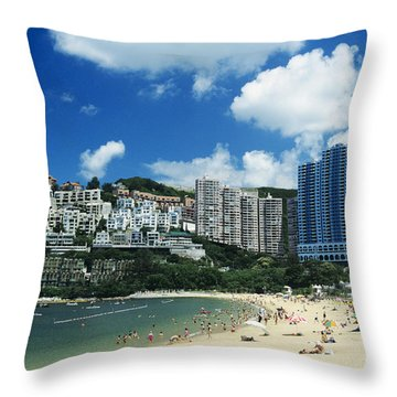 Repulse Bay Throw Pillow by Gloria and Richard Maschmeyer - Printscapes
