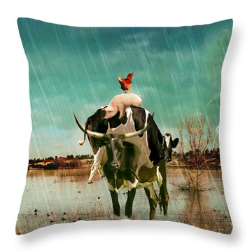 Rescue Throw Pillow by James Bethanis