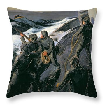 Action Lines Throw Pillows