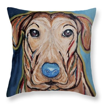 Rescued Throw Pillow by Victoria Lakes