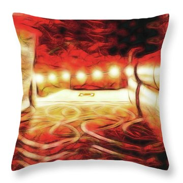 Throw Pillow featuring the digital art Reservations - Row C by Wendy J St Christopher