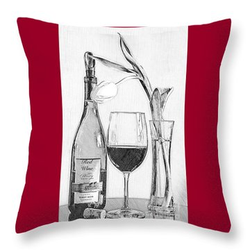 Reserved Table For One In Black And White Throw Pillow