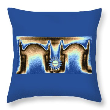 Throw Pillow featuring the mixed media Reserved by Will Borden