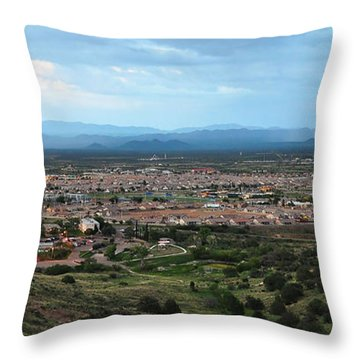 Throw Pillow featuring the photograph Reservoir Hill Overlook by Gina Savage