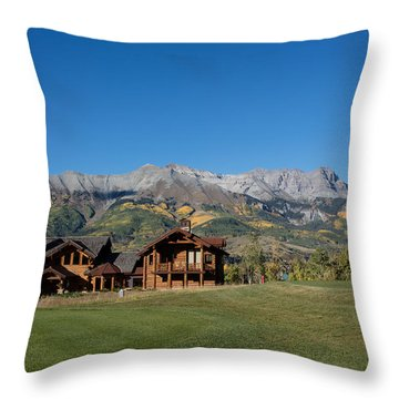 Throw Pillow featuring the photograph Residences In Mountain Village -- A Planned Community Adjacent To Telluride by Carol M Highsmith