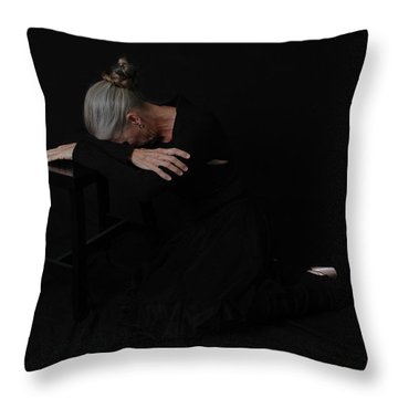 Throw Pillow featuring the photograph Resignation by Nancy Taylor