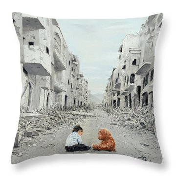 Throw Pillow featuring the painting Resilience by Kevin Daly