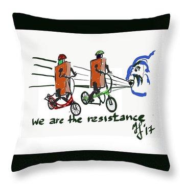 Resistance Throw Pillow