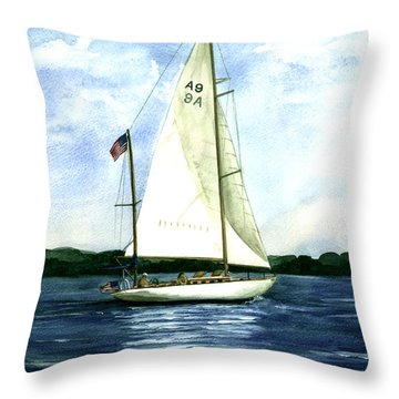 Throw Pillow featuring the painting Resolute by Nancy Patterson