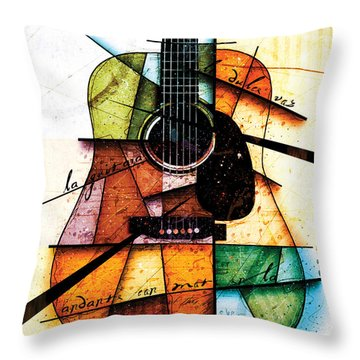 Resonancia En Colores Throw Pillow