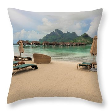 Resort Life Throw Pillow by Sharon Jones