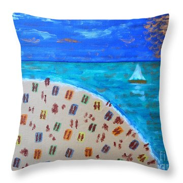 Resort Throw Pillow by Patrick J Murphy