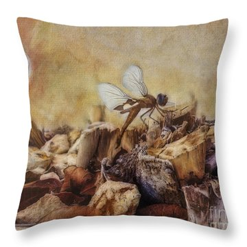 Respite Of The Mosquito Hawk Throw Pillow