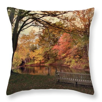Throw Pillow featuring the photograph Respite River by Jessica Jenney