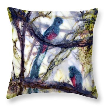 Resplendent Quetzal #1 Throw Pillow