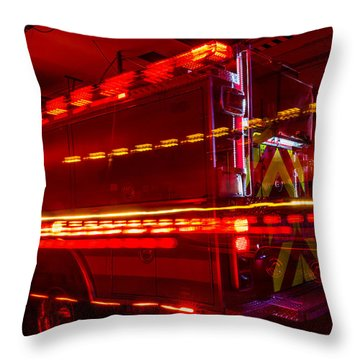 Responding Code 3 Throw Pillow