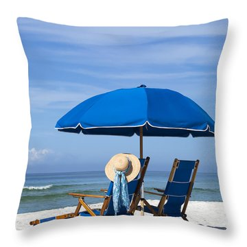 Rest And Relaxation Throw Pillow by Janet Fikar