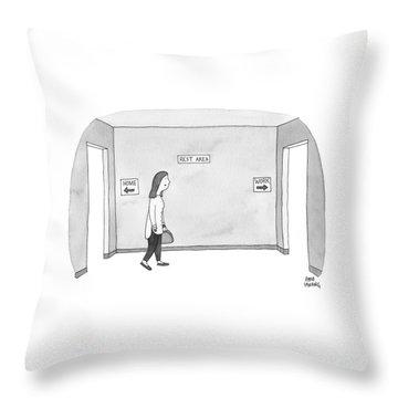 Rest Area Throw Pillow
