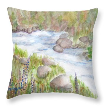 Rest By My Waters Throw Pillow